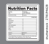 nutrition facts label | Shutterstock .eps vector #278194628