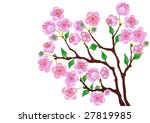 blossom branch of a peach on a... | Shutterstock .eps vector #27819985