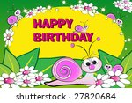 snail and flowers   birthday... | Shutterstock . vector #27820684