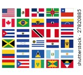 set of vector flags of all... | Shutterstock .eps vector #27820885