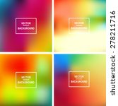 abstract colorful blurred... | Shutterstock .eps vector #278211716