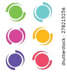 vector circular design elements ... | Shutterstock .eps vector #278215256