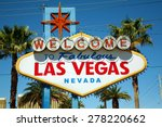 the world famous las vegas sign ... | Shutterstock . vector #278220662