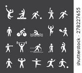 silhouette figures of athletes... | Shutterstock .eps vector #278227655