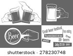 beer craft festival two color... | Shutterstock .eps vector #278230748