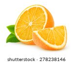 isolated orange pieces. cut... | Shutterstock . vector #278238146