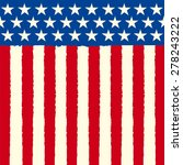 american square sketch flag. a... | Shutterstock .eps vector #278243222