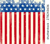 american square dirty flag. a... | Shutterstock .eps vector #278243636