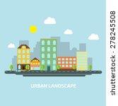 urban landscape flat style day | Shutterstock .eps vector #278245508