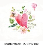 the composition of watercolor... | Shutterstock . vector #278249102