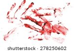 bloody handprints scalable... | Shutterstock .eps vector #278250602