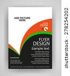 business flyer template or... | Shutterstock .eps vector #278254202