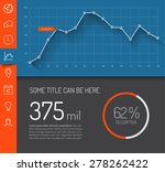 dashboard template with graphs... | Shutterstock .eps vector #278262422