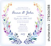 wedding invitation design... | Shutterstock .eps vector #278266388
