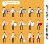 business people sketches... | Shutterstock .eps vector #278268635