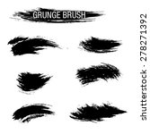vector set of grunge brush... | Shutterstock .eps vector #278271392