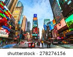 new york city   dec 01 times... | Shutterstock . vector #278276156