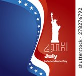 4th july white logo blue red... | Shutterstock .eps vector #278276792