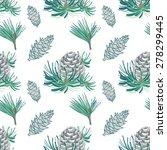 pine fir christmas tree cedar... | Shutterstock .eps vector #278299445