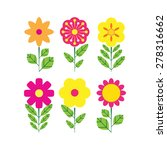 flower icons for pattern.... | Shutterstock .eps vector #278316662