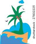 tropical island | Shutterstock .eps vector #27832225