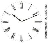clock illustration. isolated on ... | Shutterstock .eps vector #278322782