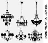 vintage lamp icons set great... | Shutterstock .eps vector #278326106