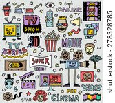 tv shows  series and movies... | Shutterstock .eps vector #278328785