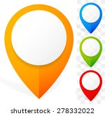 set of colorful 3d map marker ... | Shutterstock .eps vector #278332022
