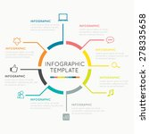 modern infographics circle easy ... | Shutterstock .eps vector #278335658