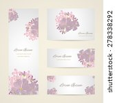 invitation card with floral... | Shutterstock .eps vector #278338292