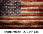 Worn Vintage American Flag...