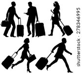people in a hurry  on airport...   Shutterstock .eps vector #278346995
