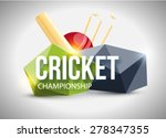 cricket concept | Shutterstock .eps vector #278347355