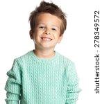 happy five year old european... | Shutterstock . vector #278349572
