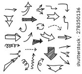 set of hand drawn arrows on... | Shutterstock .eps vector #278350136