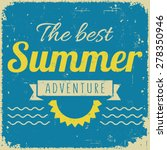 vintage retro summer poster in... | Shutterstock .eps vector #278350946