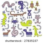 strange but cute creatures | Shutterstock .eps vector #27835237
