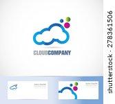 vector logo template of cloud... | Shutterstock .eps vector #278361506