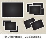 retro photo frames.old photos... | Shutterstock .eps vector #278365868