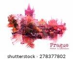 Prague Vector Illustration....