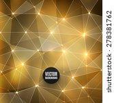 vector abstract polygon... | Shutterstock .eps vector #278381762