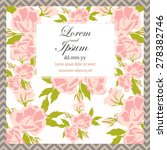 invitation card with floral... | Shutterstock .eps vector #278382746