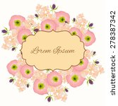 invitation card with floral...   Shutterstock .eps vector #278387342