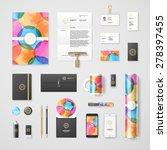 trendy watercolor corporate... | Shutterstock .eps vector #278397455
