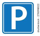 parking sign | Shutterstock .eps vector #278398022