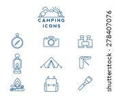 camping line icons | Shutterstock .eps vector #278407076