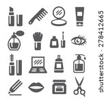 cosmetics icons | Shutterstock .eps vector #278412665