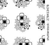 seamless wallpaper pattern with ... | Shutterstock . vector #278413478