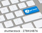 get leads icon on blue key of...   Shutterstock . vector #278414876